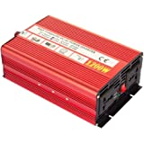AUTOINBOX 正弦波 インバーター カーインバーター パワー 12v 1200W 変換器 変圧器 DC 12V → AC 110V 50Hz 60Hz 対応 車から家庭用電源 非常電源・補助電源に