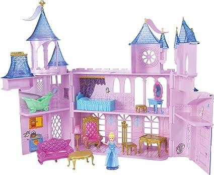 Disney Princess Wooden Doll House Castle Fairytale Play Set Royal Furniture-New