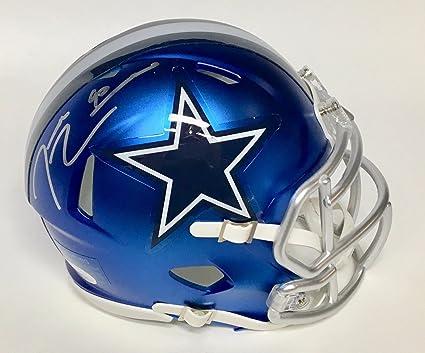 6f20f1afc Demarcus Lawrence Dallas Cowboys Signed Autograph BLAZE Speed Mini Helmet JSA  Witnessed Certified