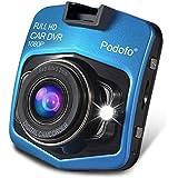 podofo Dashcam Mini GT300 A8 Enregistreurs de Conduite Caméra de Voiture Enregistreur de Véhicule Video DVR Full HD 1080p Vision Nocturne Objectif Grand Angle (Bleu)