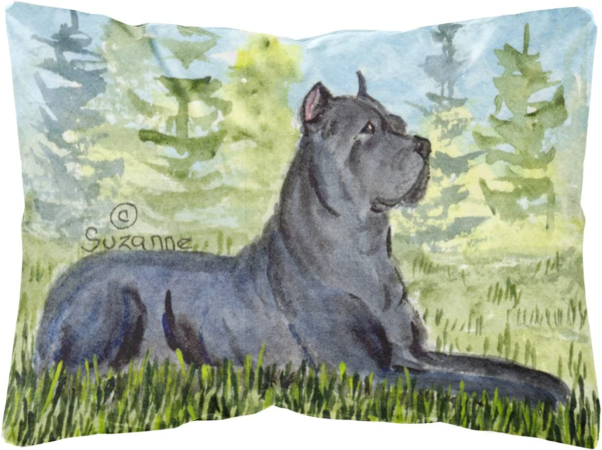 Amazon Com Caroline S Treasures Ss8682pw1216 Cane Corso Decorative Canvas Fabric Pillow 12h X16w Multicolor Garden Outdoor