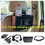 Car Organizer Box Plus 3in1 Fast Charge Cable for Rideshare Drivers U and L Drivers Free Charge and Water etc. for Pax. Rideshare Drivers Must Have It