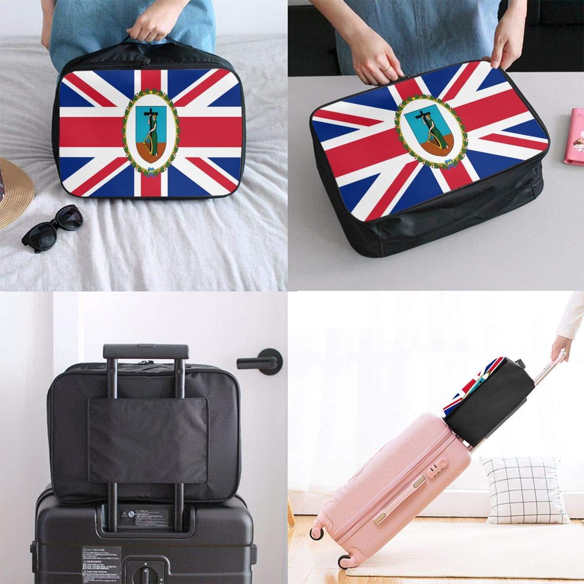 Montserrat Flag Travel Bag Cute Luggage Bags Duffle Bag Large Capacity Travel Organizer Bag