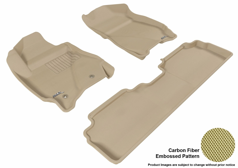 Black 3D MAXpider Complete Set Custom Fit All-Weather Floor Mat for Select Mazda Tribute Models Kagu Rubber L1MZ02501509