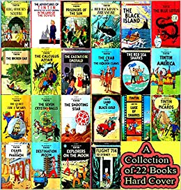A Library of The Adventures of Tintin Complete Collection Hardcover
