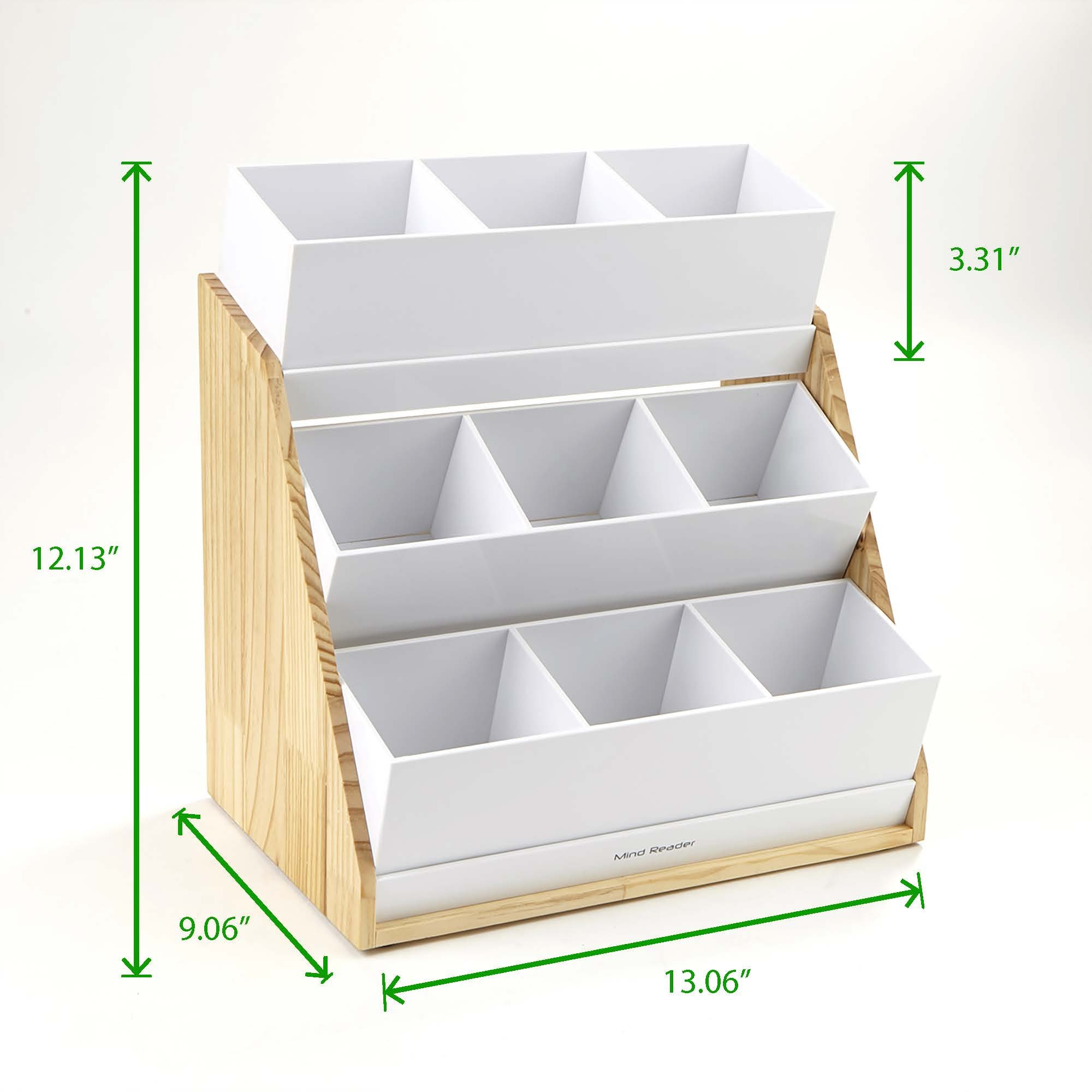 Mind Reader Condiment and Accessories Organizer, 9 Compartments, Wood by Mind Reader (Image #7)