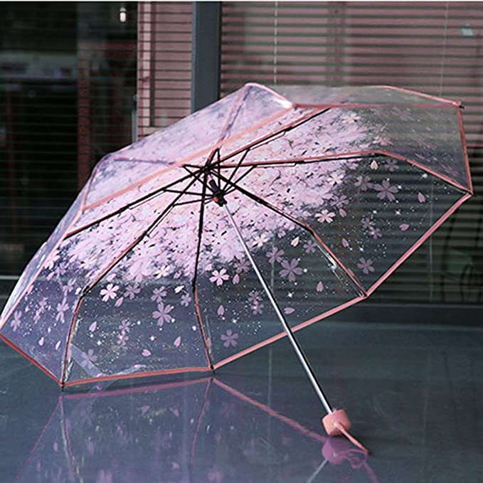 Laurelmartina Paraguas Plegable Plegable de la Cereza de Las ...