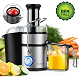 "KOIOS Centrifugal Juicer Machines, Juice Extractor with Big Mouth 3"" Feed Chute, 304 Stainless-steel Filter, High Juice…"