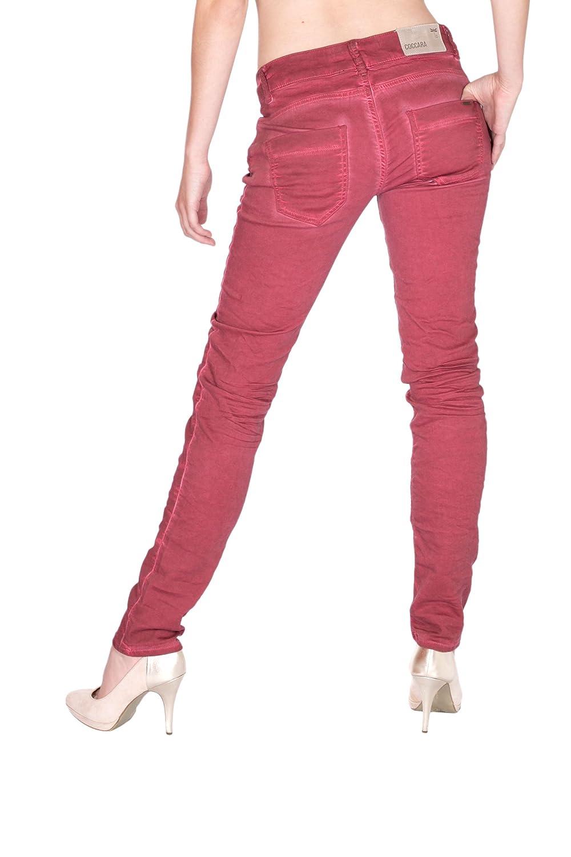 Coccara Damen Jeans Slim Fit Curly Button mit offener Knopfleiste mix rosa  (29/32): Amazon.de: Bekleidung
