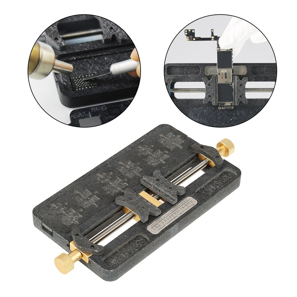 PCB Holder,1pc Fixture IC Chip Soldering PCB Fixing Holder Phone Repair Clamping Tool for Mobile Phone,BGA Fix Repair Mold Board NAND by Walfront (Image #6)