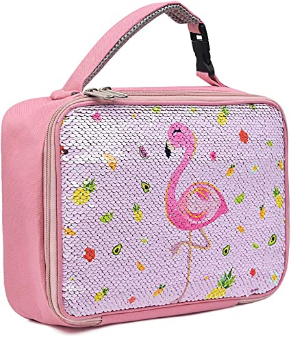 Sass /& Belle Flamingo Insulated Thermal Cool Lunch Bag School Lunchbox