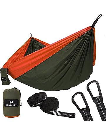 SONGMICS Hamaca Ultra Ligera para Viaje y Camping, Nylon Transpirable, 300kg de Capacidad de