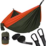 SONGMICS Double Parachute Nylon Camping Hammock Ultra-Lightweight & Portable Swing Bed 118'' x 78'' Hold up to 660LB for Outdoor Backpacking, Hiking, Beach,Yard, Traveling