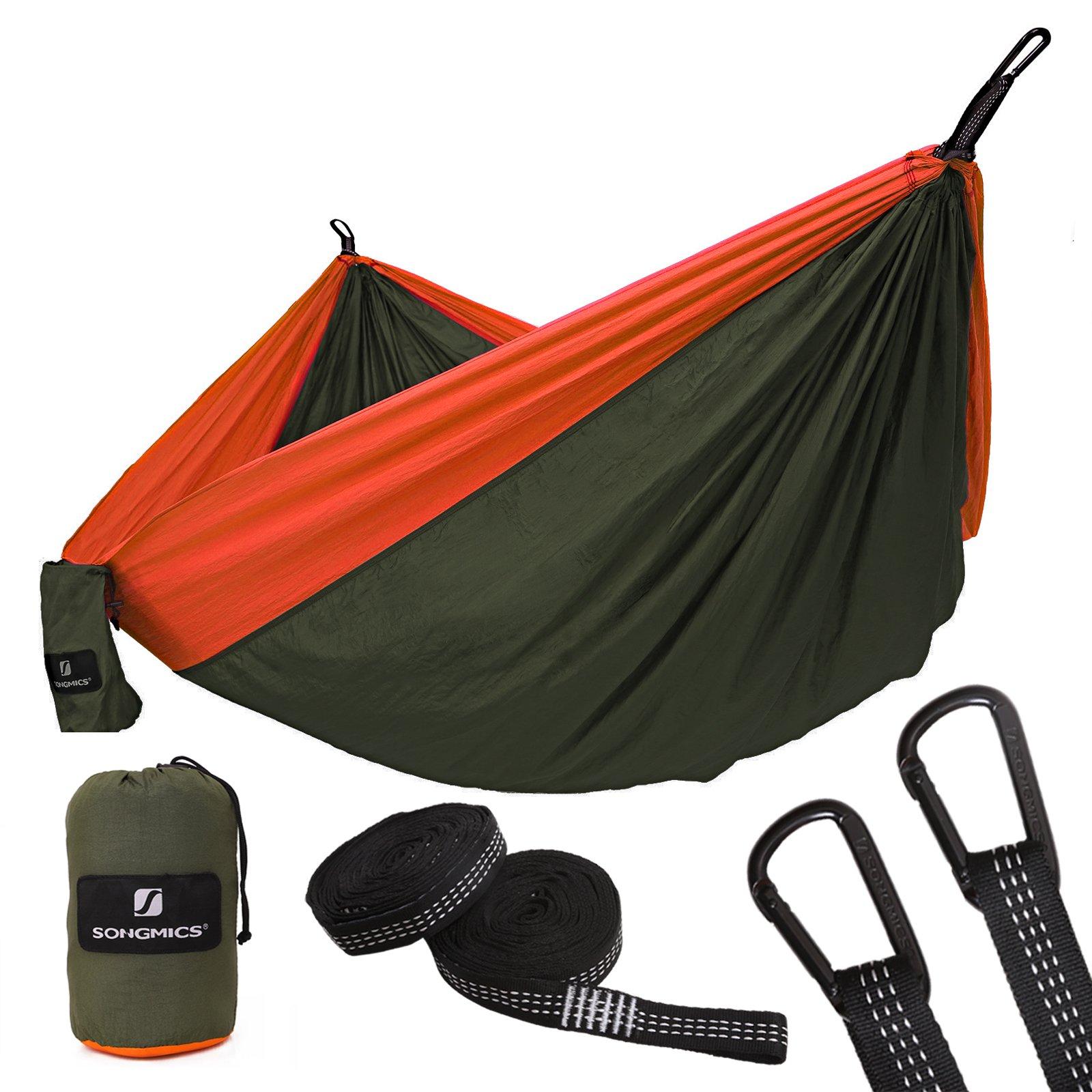 SONGMICS Hamaca Ultra Ligera para Viaje y Camping, 300kg de Capacidad de Carga, 275