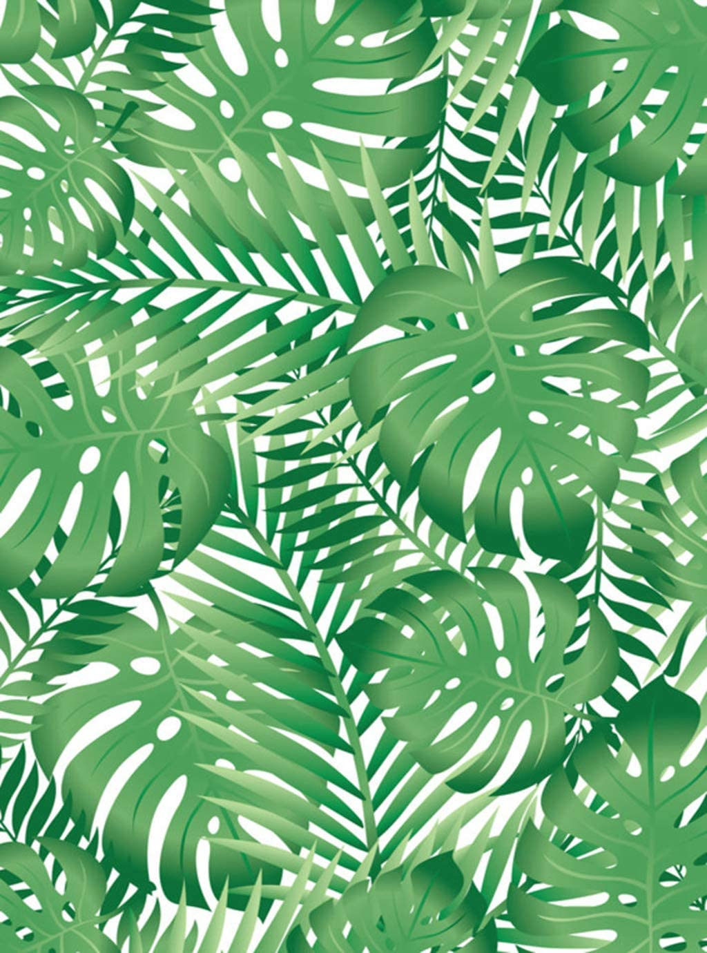 Llsty Poster Wall Art Green Leaf Tropical Leaves Palm Fern Foliage Beach 24x36 Inch Mural Print Artwork Home Decoration Advanced Perfect Suitable for Bedroom Office D¨¦cor