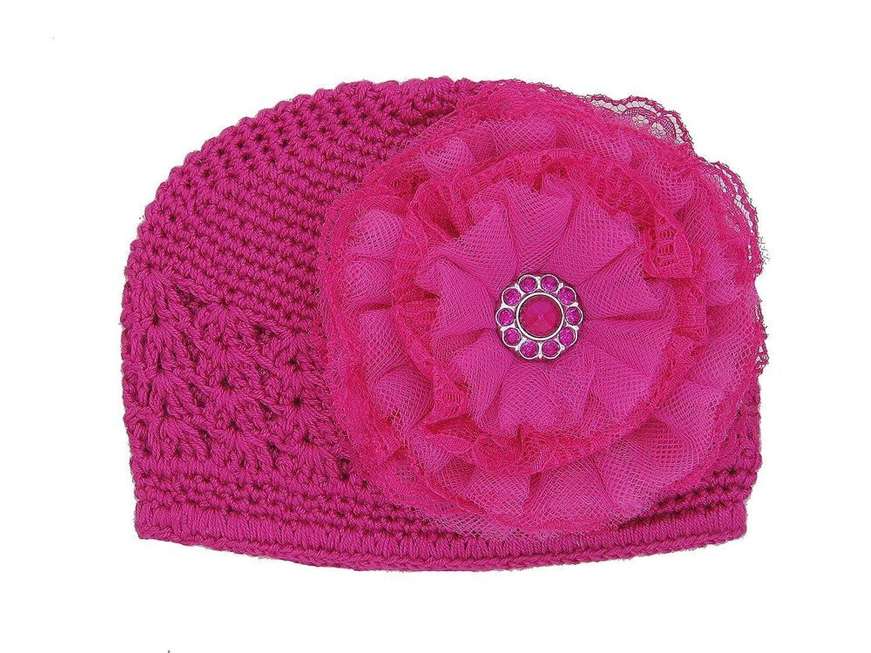 Amazon Jamie Rae Hats Raspberry Crochet Hat With Raspberry