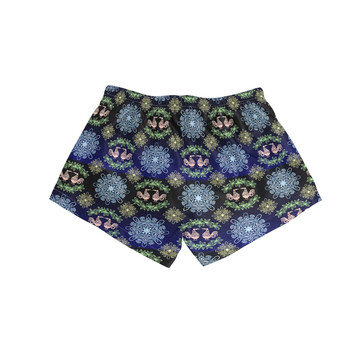 Womens Fashion Summer Folk Art Chicken Beach Shorts Casual Short Pants