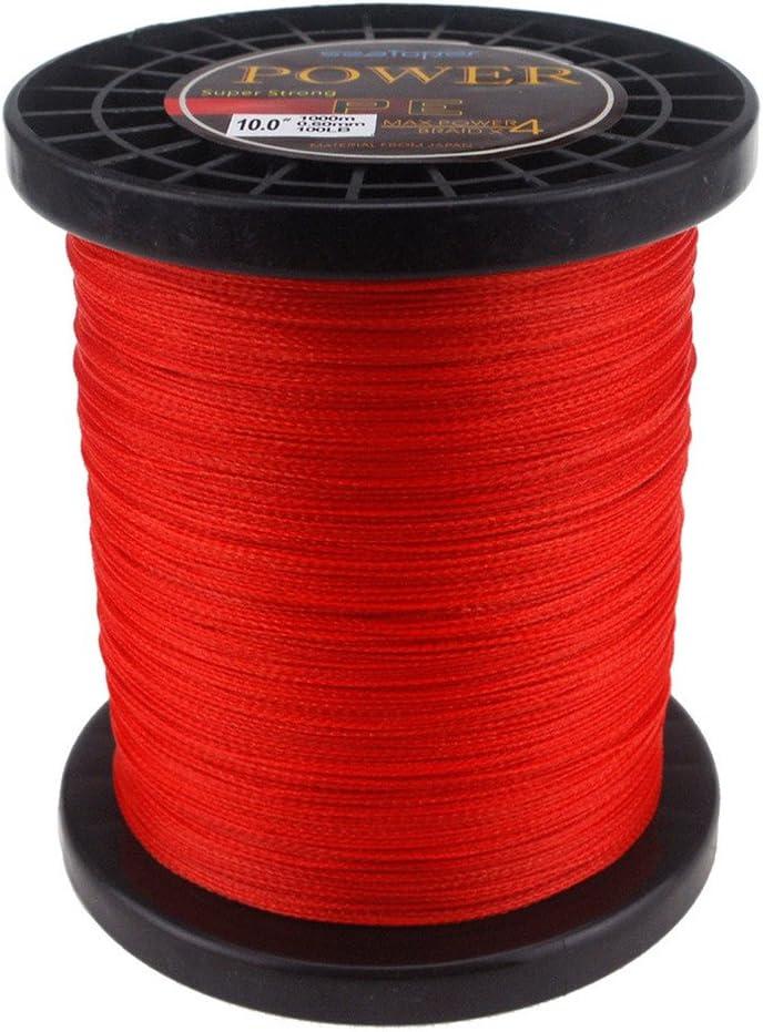 Super fuerte PE SeaToper pesca trenzado 500 m (547 yardas)/1000 m (1094 metros) 220,46 lbs 9 99 colores disponibles Rojo rosso Talla:1000M (1094 Yard)/100LB (0.60mm): Amazon.es: Deportes y aire libre