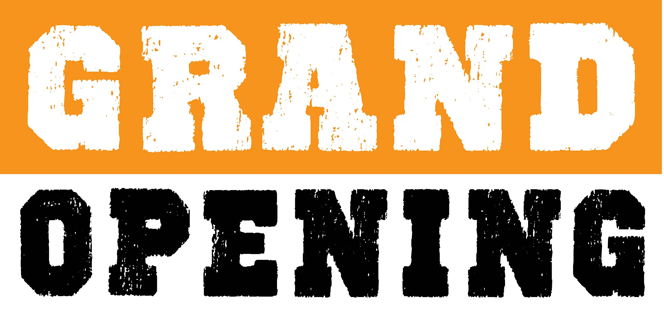 Pre-Printed Grand Opening Banner - Stripe - Orange (10' x 5') by Reliable Banner Sign Supply & Printing (Image #1)