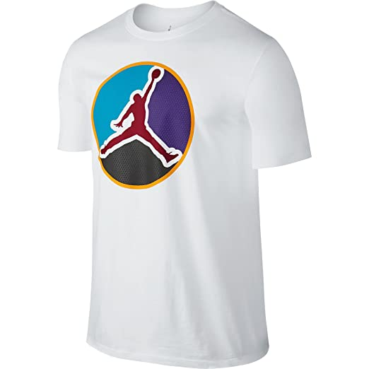68e91066fe5eb2 Amazon.com  Jordan AJ VIII Always Reppin  Men s T-Shirt White Gym ...