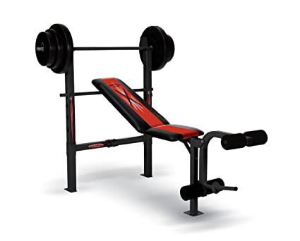 f174a2a97de Amazon.com   Competitor Weight Bench with 100-Pound Weight Set ...