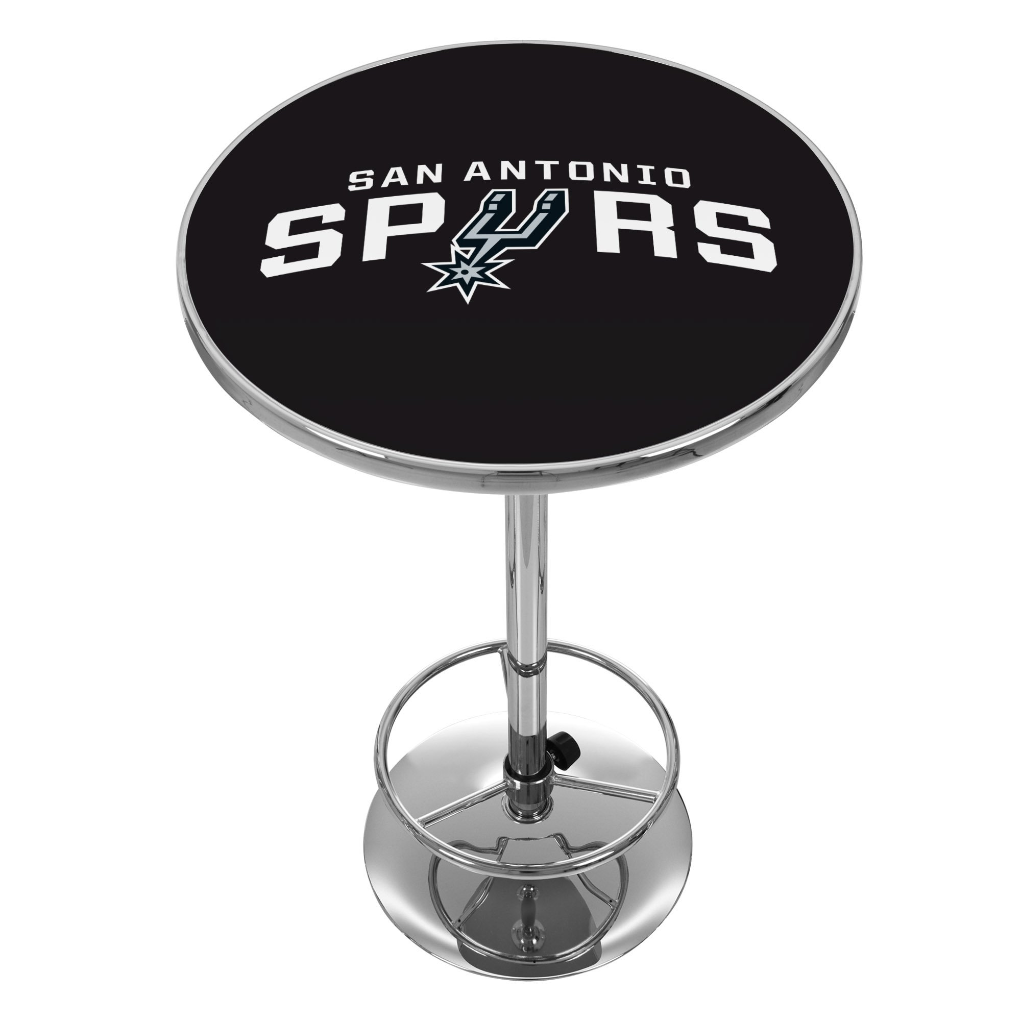 NBA San Antonio Spurs Chrome Pub Table by Trademark Gameroom