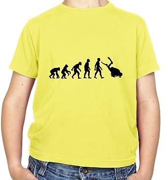 Evolution of Man - Tauchen - Kinder T-shirt - Gelb - XS (3