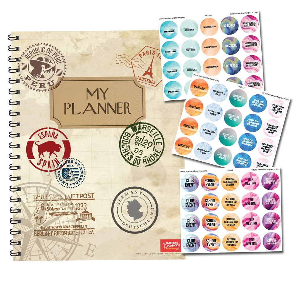 My Planner for World Language Teachers and Planner Sticker Pack Bundle