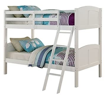 Amazon Com Angel Line Creston Twin Over Twin Bunk Bed White