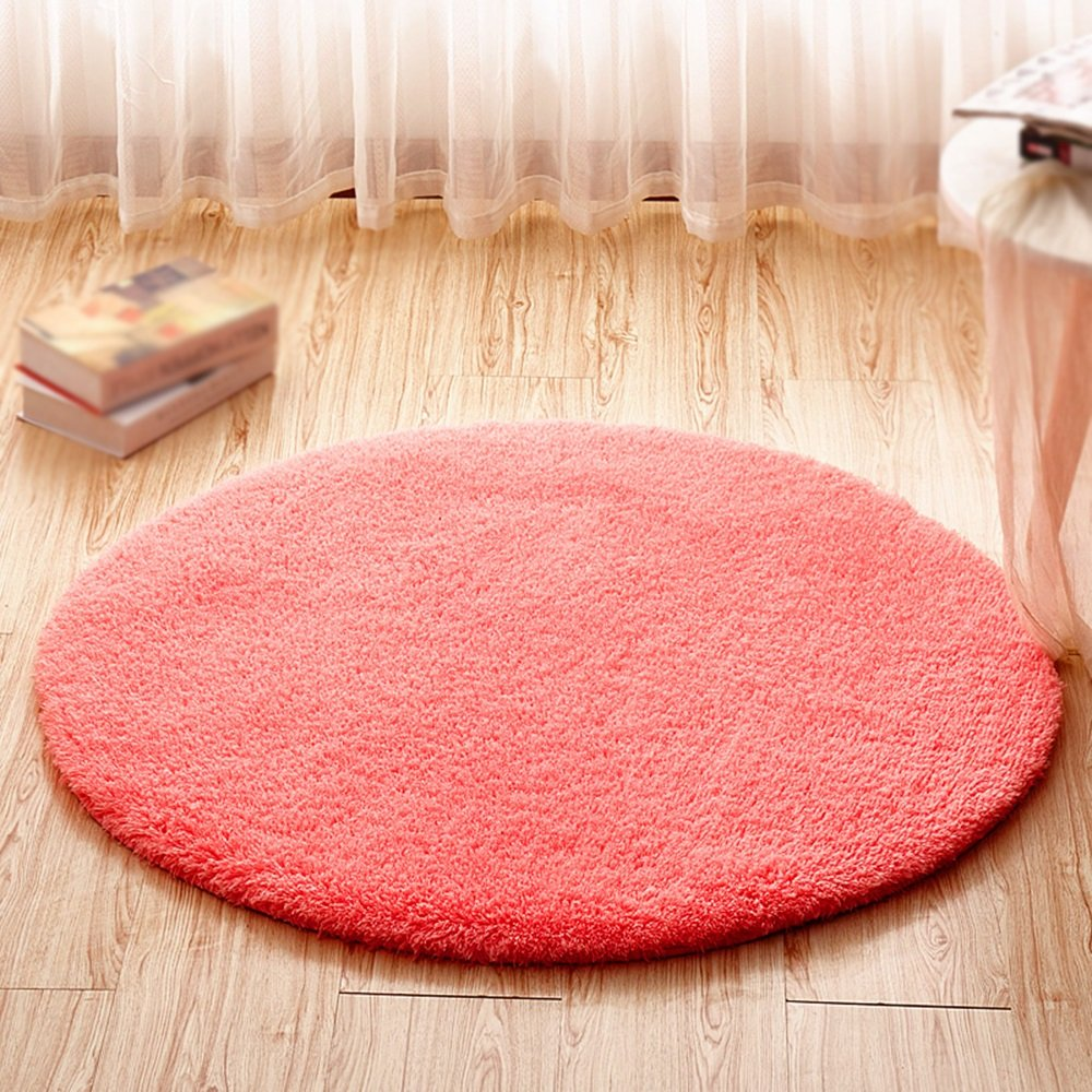 Pink Round Carpet / Computer Chair Swivel Pad / Hanging Chair Anti-slip Carpet / Children's Bed Bedside Crawler Pad / Living Room Study Desk Non-slip mat ( Size : Diameter 200cm )