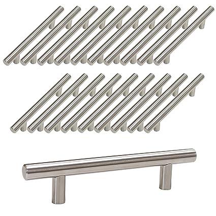 Probrico Pomo de barra en T de mueble de cocina acero inoxidable, 12 mm de diámetro UK Domestic entrega