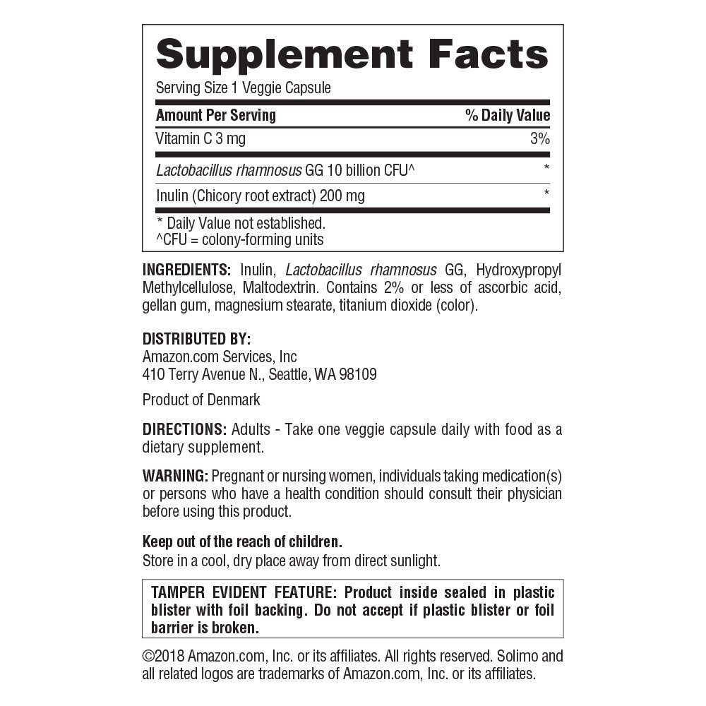 Amazon Brand - Solimo Probiotic 10 Billion CFU, 60 Veggie Capsules, Two Month Supply by Solimo (Image #2)
