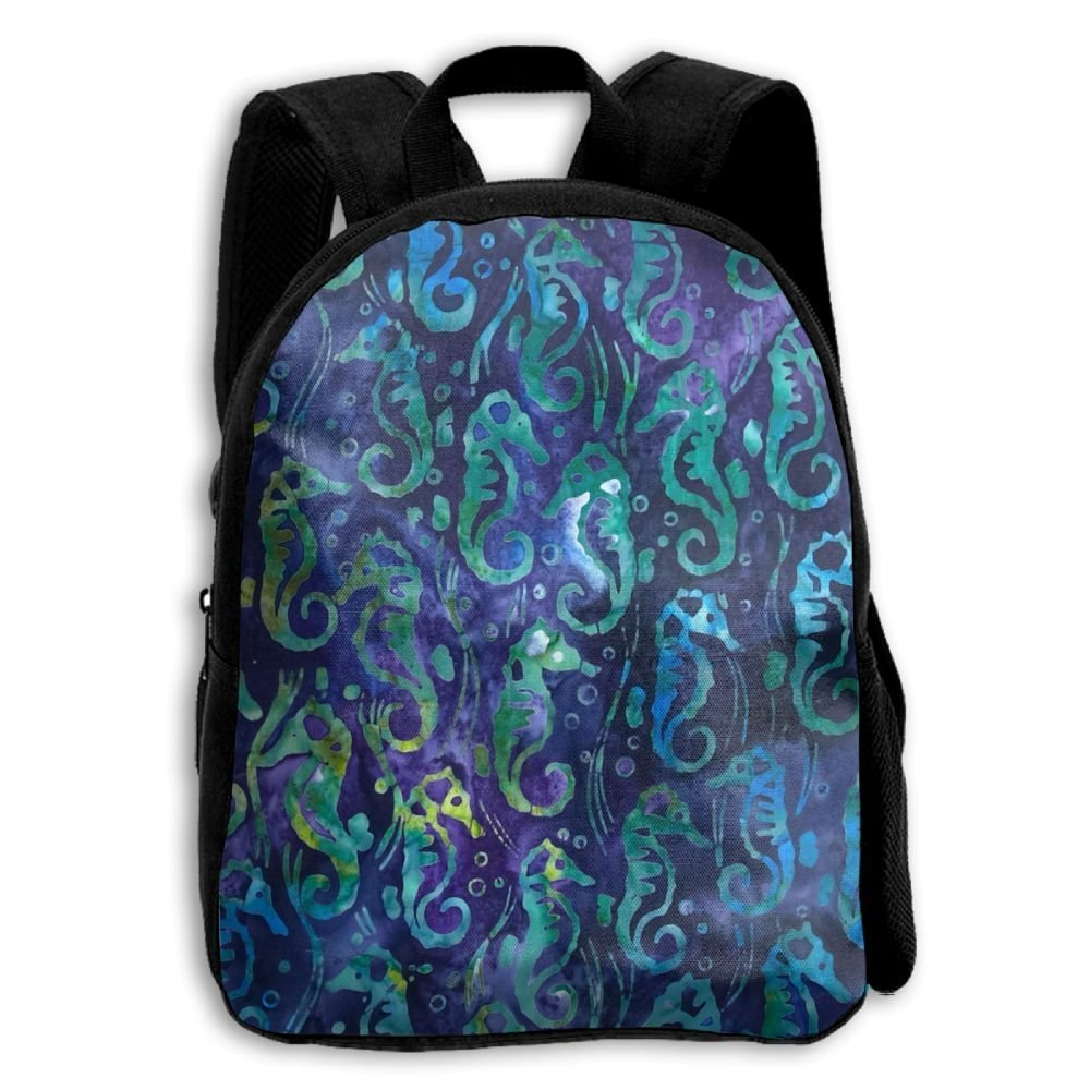 sdeyr79スタイリッシュな子Tropical Sea Horses学校バックパックBookbags Middle Bags Daypack For Boys Girls   B07FZTQ4XN