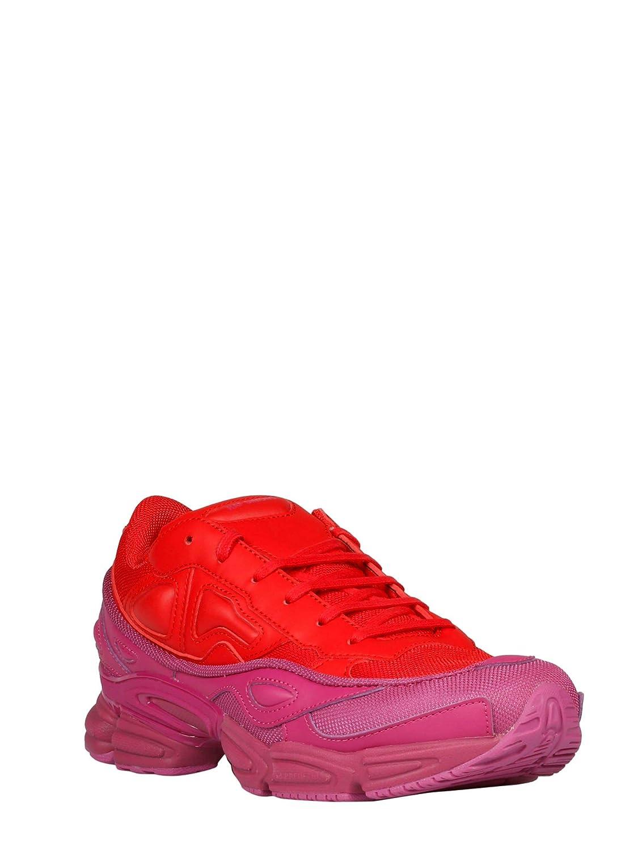 best sneakers 7f14a 600c0 Adidas By RAF Simons Sneakers Uomo F34265 Tessuto RossoViola Amazon.it  Scarpe e borse