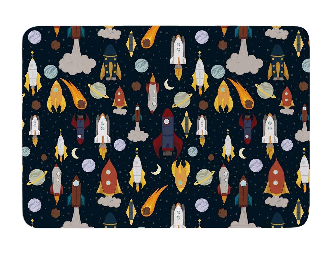 Kess InHouse Stephanie Vaeth Rockets Celestial Pattern Memory Foam Bath Mat, 17 by 24-Inch, 17' X 24'