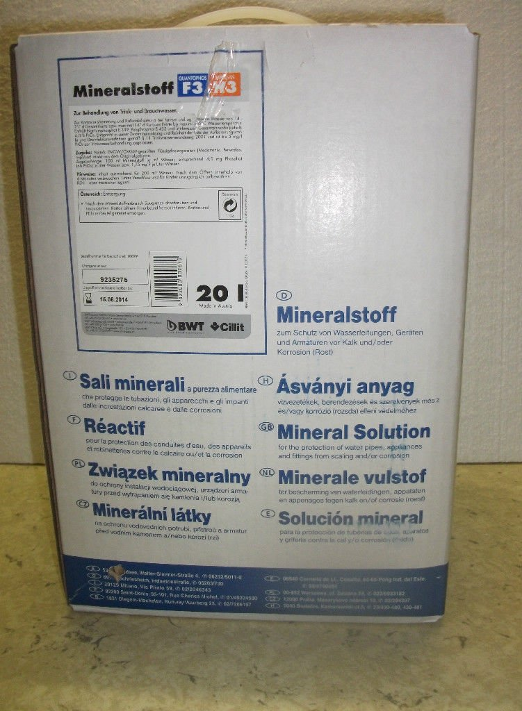 BWT Mineralstoff Cillit -Quantophos/Impulsan 20 l Kanister F3/H3