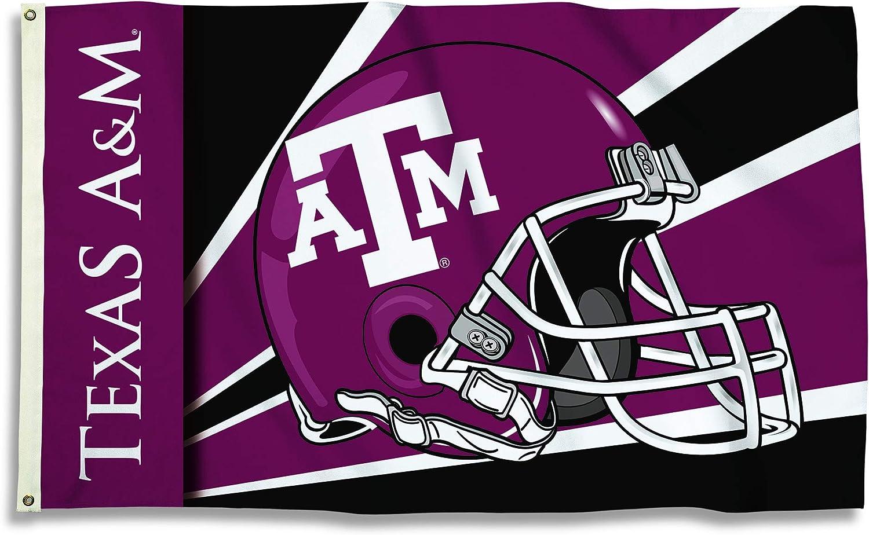 NCAA 3 X 5 Helmet Design Flag with  Grommets
