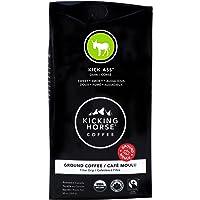 Kicking Horse Coffee, Kick Ass, Dark Roast, Ground, 284 g - Certified Organic, Fairtrade, Kosher Coffee