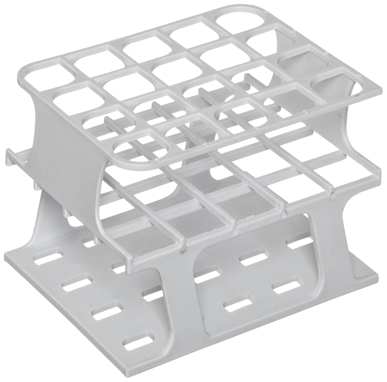 Pack of 8 White 36 Place Half POM Heathrow HS27501A OneRack Test Tube Rack 13 mm
