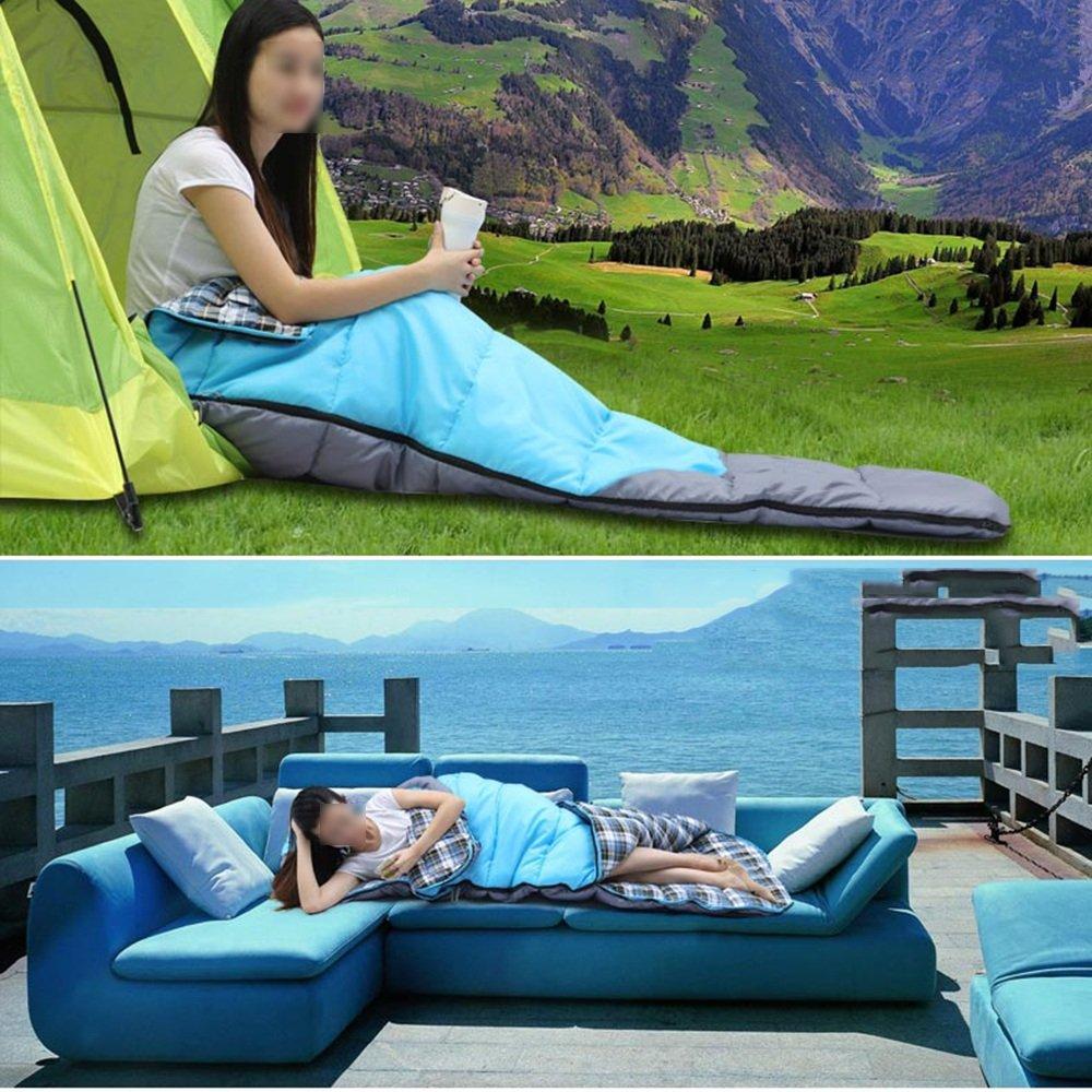 QFFL shuidai Umschlag Schlafsack Mit Linern Erwachsene Outdoor Camping Camping Camping Wandern Baumwolle Rechteckigen Schlafsack mit Kompressionssack (2 Farben erhältlich) B07CVWWMH6 Mumienschlafscke Trendy 853acb