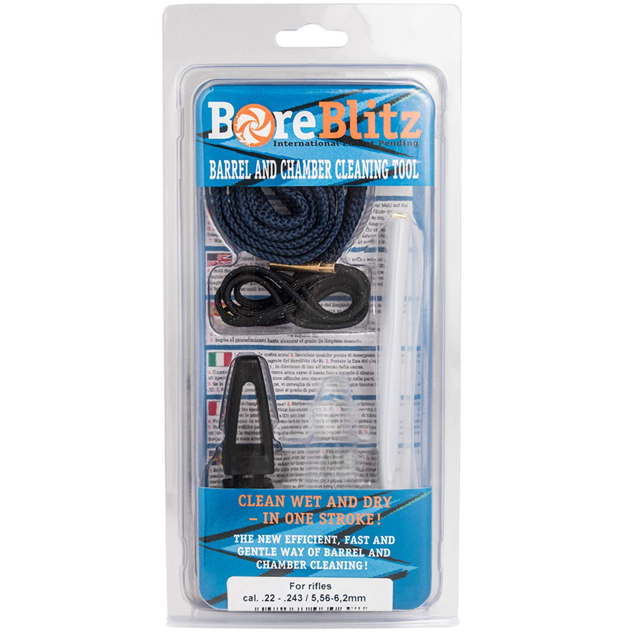 BoreBlitz Bore Cleaner Gun Snake Brushless for Rifle with Handle Caliber .22 .223 .222 5.56mm by BoreBlitz