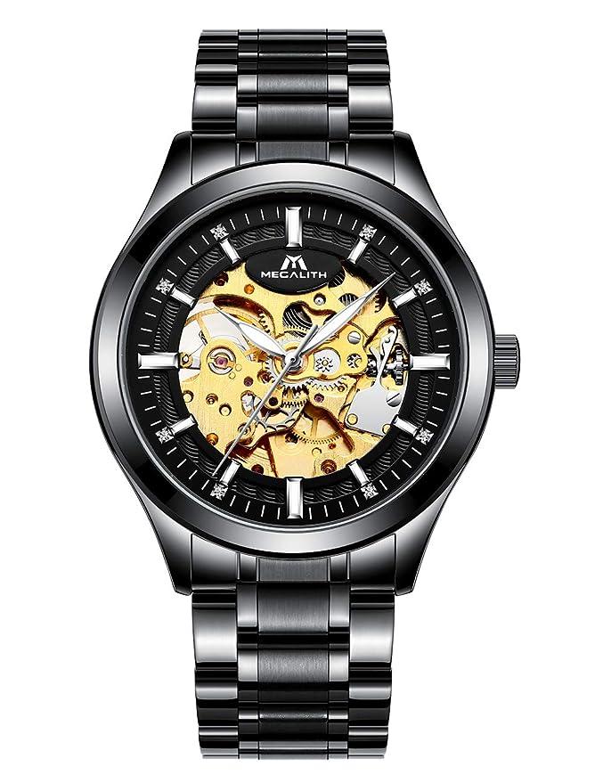 Reloj MEGALITH mecánico negro
