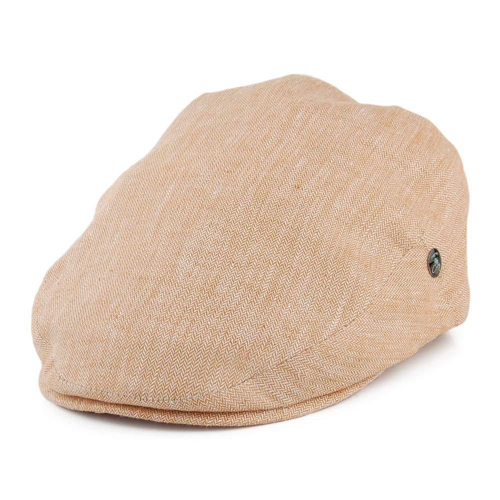 bbb762e5 City Sports Hats Micro Herringbone Linen Flat Cap - Burnt Orange:  Amazon.co.uk: Clothing