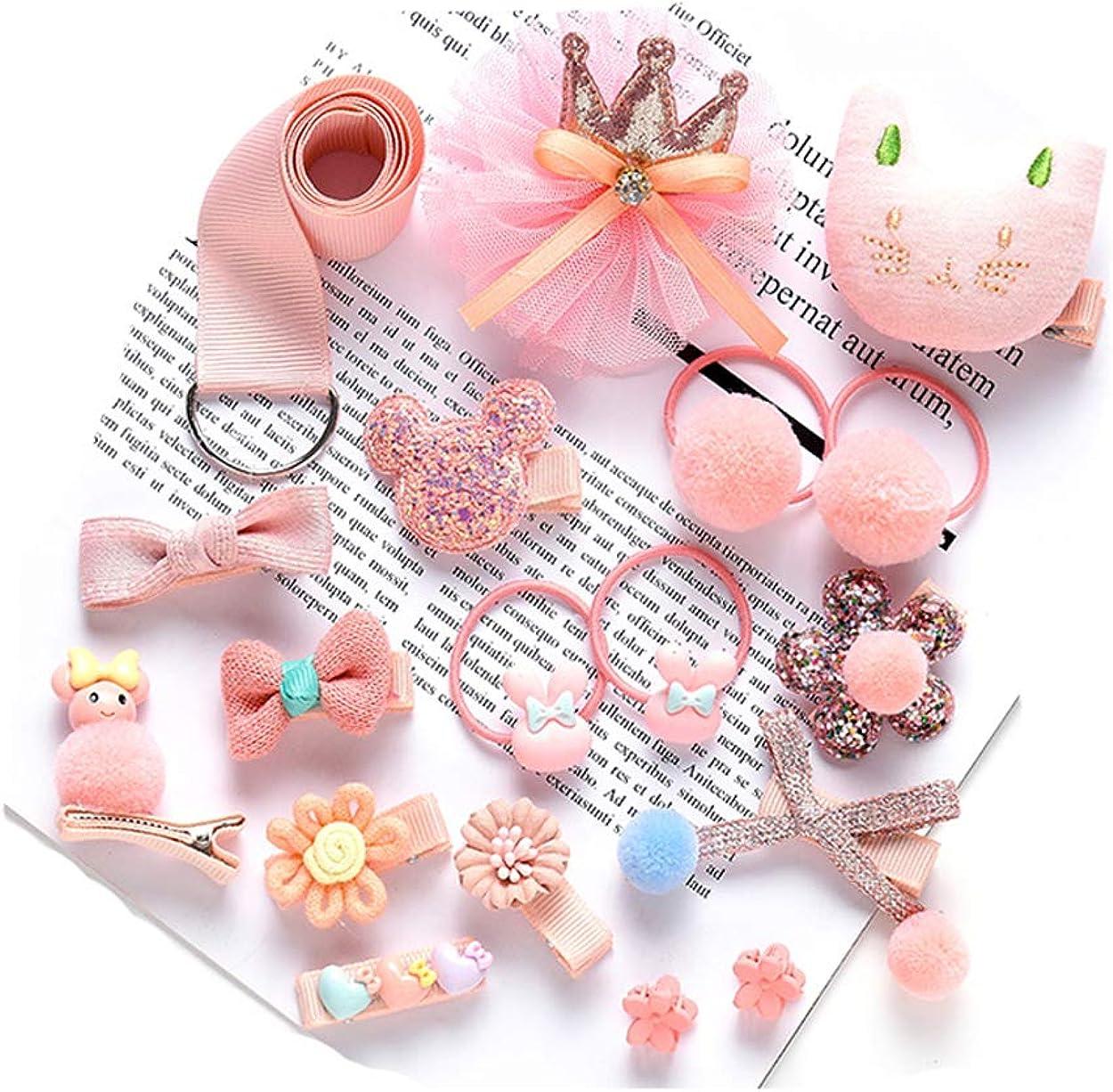 Lumsinker 18 Pcs Baby Girl Hair Gift Set Hair Clips Hair Ties Claw Barrettes Headwear