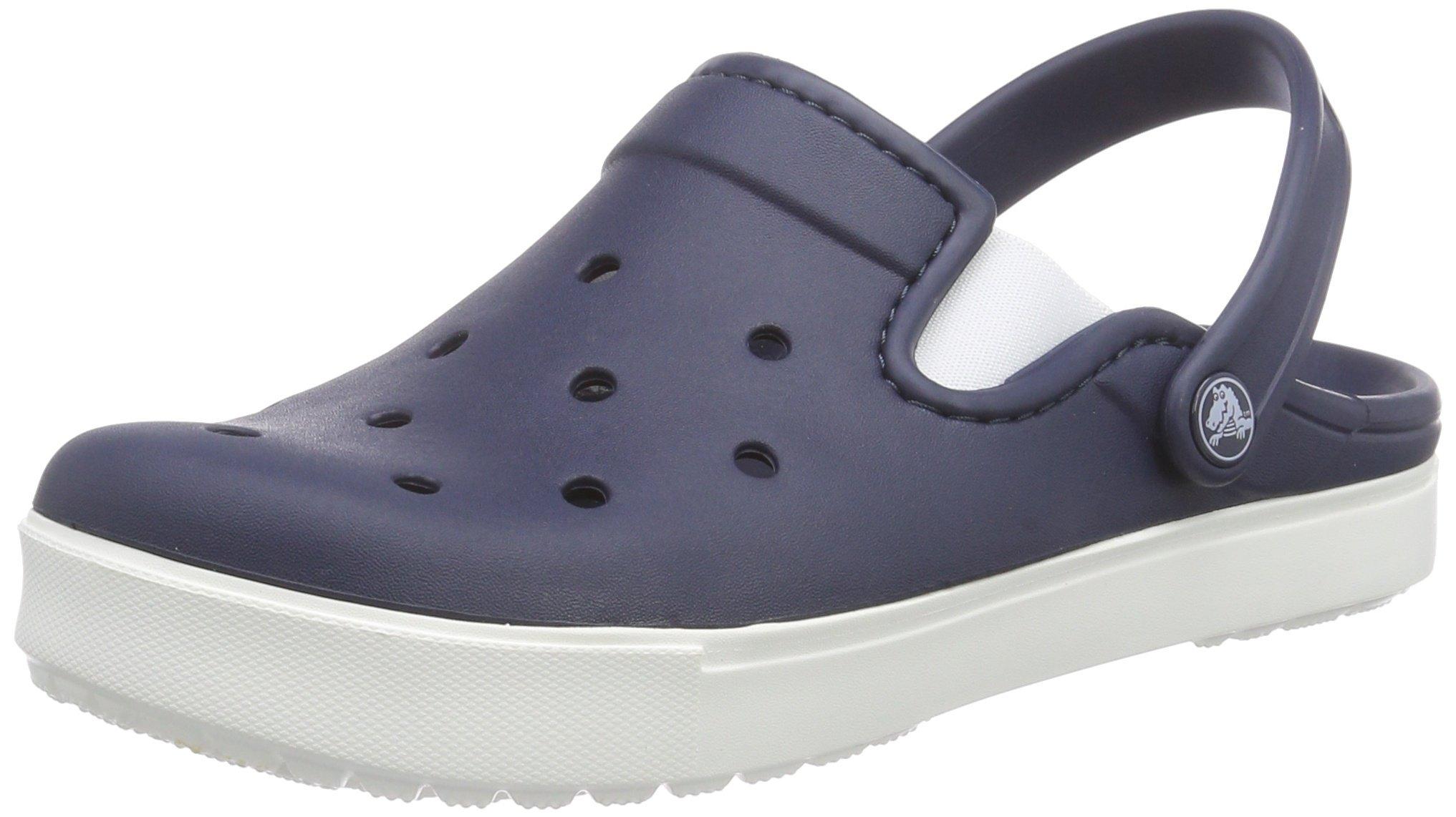 Crocs Unisex Citilane Clog, Navy/White, 10 B(M) Women/8 D(M) Men US