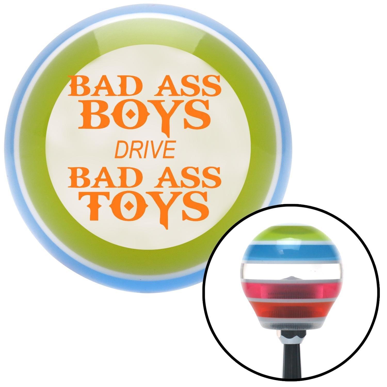 Orange Bad Ass Boys Drive Bad Ass Toys American Shifter 137723 Stripe Shift Knob with M16 x 1.5 Insert