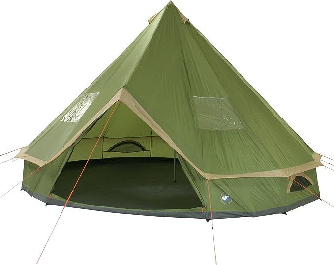 10T Outdoor Equipment 10T Mojave 500 Tienda de Teepee, Unisex, Verde, Estándar: Amazon.es: Deportes y aire libre