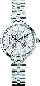 ساعة بمينا بيضاء وسوار معدن للنساء من بالمين - B47713316
