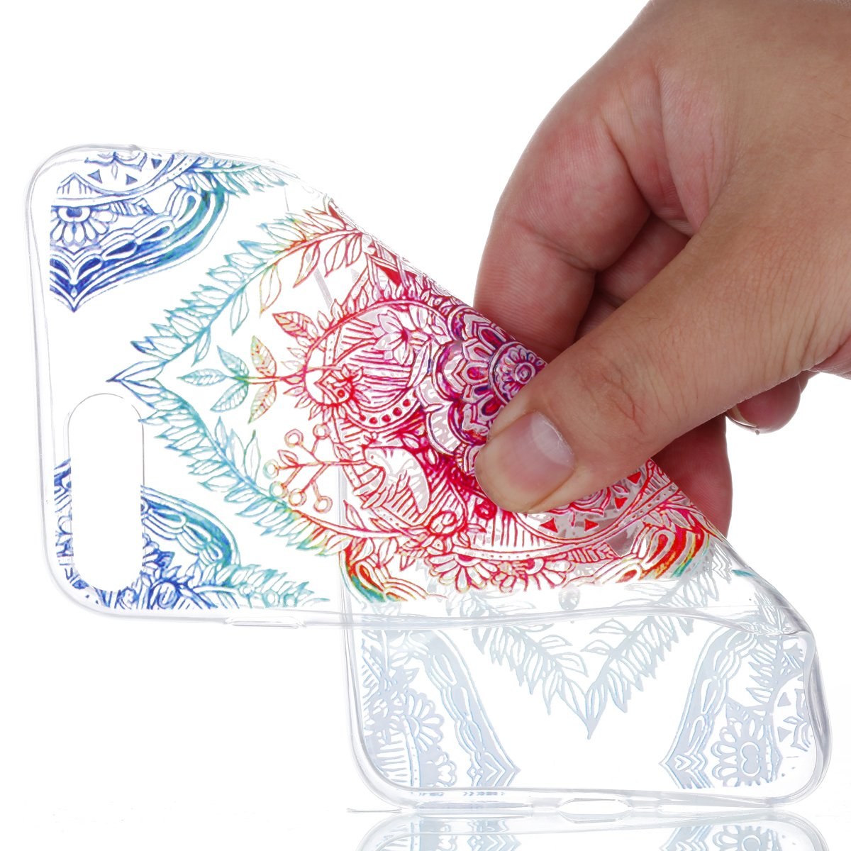 GOCDLJ Funda para iPhone 7 Plus TPU Silicona Transparent ...