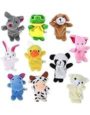 10pcs Different Finger Cartoon Animal burattini in morbido velluto Dolls Toys Props